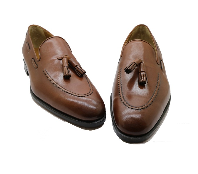 leather real shoe loafer for Vietnam made men Tassel in wBEvqw