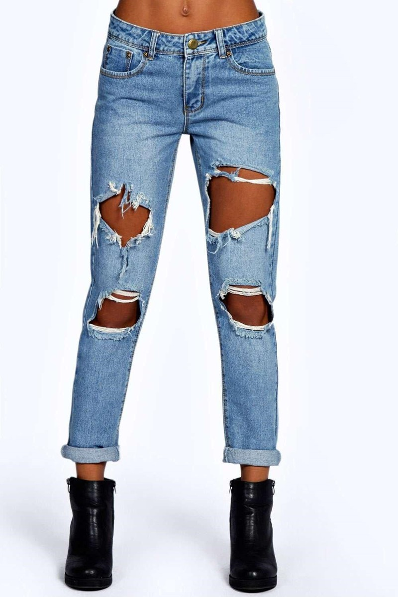 1eb4179c9 ... pair of women's jeans here with our collection of denim.2019 Latest  ladies trousers designs wholesale blue jeans trendy sexy ripped boyfriend  jeans