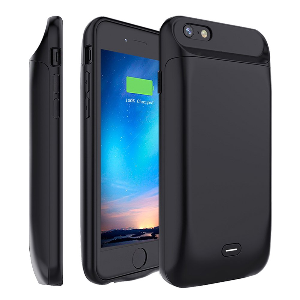 e1758a5a503 Get Quotations · iPhone 6 6S Battery Case [5000mAh], MAXBEAR Rechargeable  External Battery Portable Enhance Extended