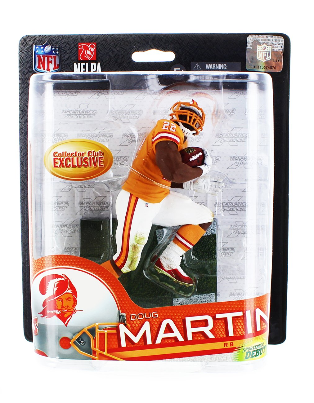 0f1dfc4f Get Quotations · McFarlane Toys NFL Sports Picks Series 33 Collectors Club  Exclusive Action Figure Doug Martin (Tampa