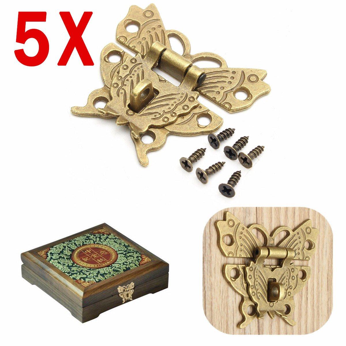 97mmx73mm Suitcase Jewelry Box Hasp Latch Lock Antique Bronze Tone TOOGOO Suitcase Latch Lock R
