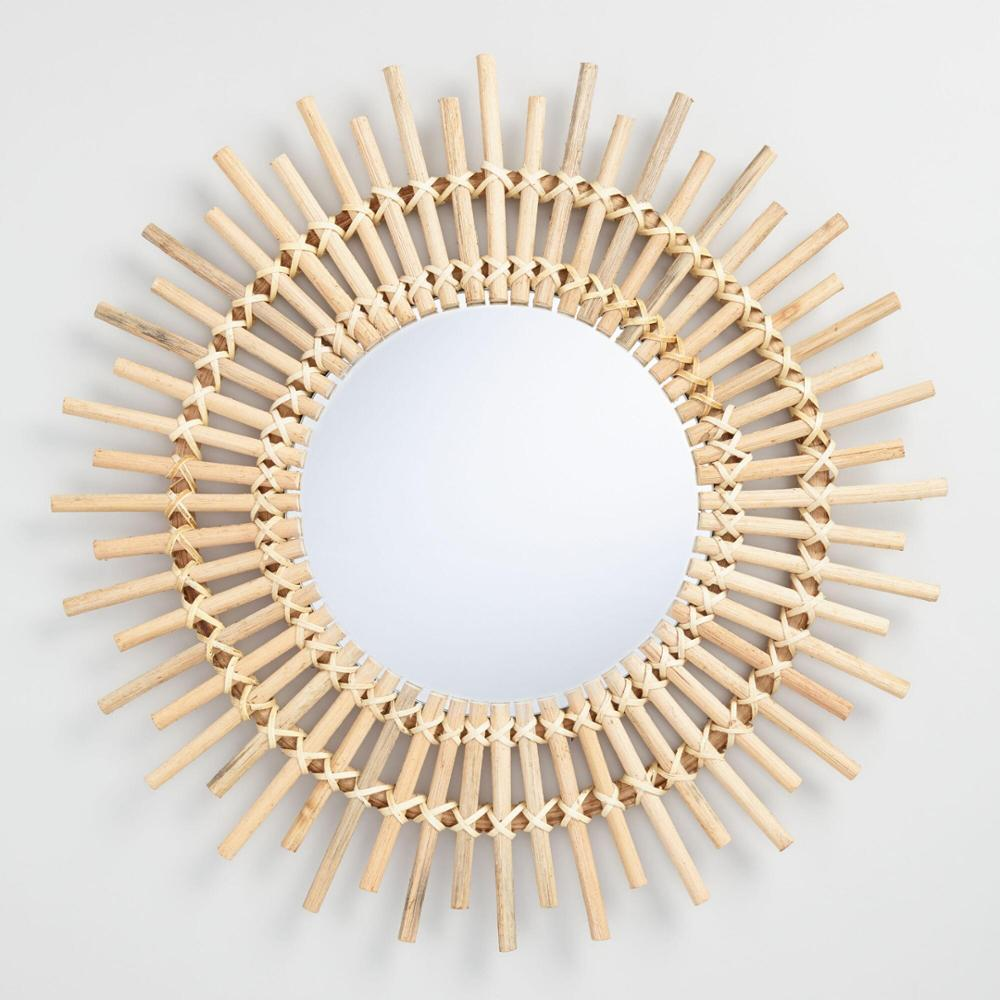High quality Rattan mirror frame handmade mirror