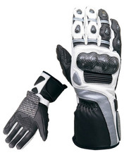 Good quality nylon motorbike gloves for men