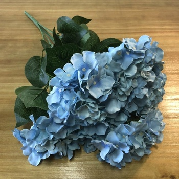 Wholesale 7 Head Artificial Flowers Hydrangea White Hydrangea Bouquet Bunch Blue Silk Hydrangea Flowers Artificial