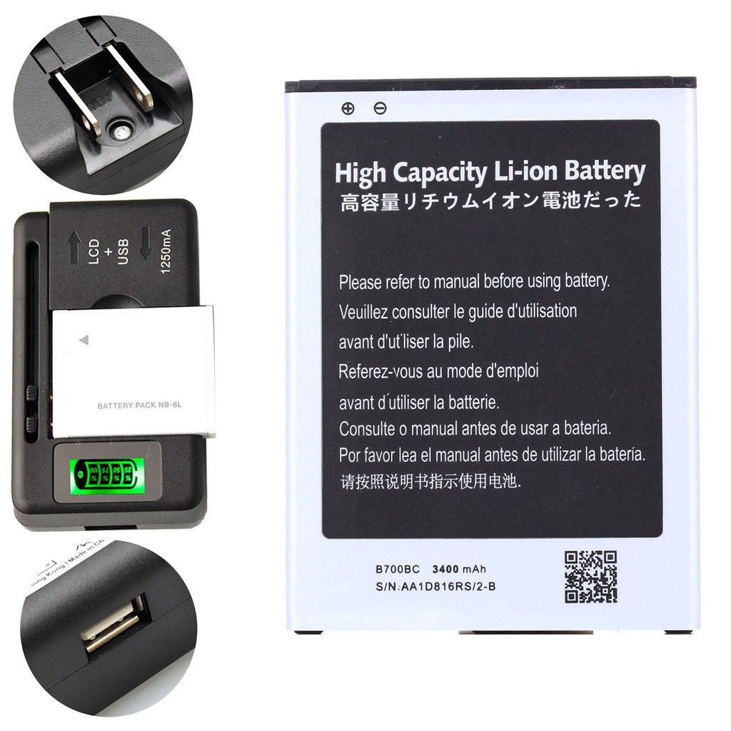 Generic Battery 3400 mAh + 1 PCS Universal Charger B700BU B700BE High Capacity For Samsung Galaxy Mega SGH-M819N