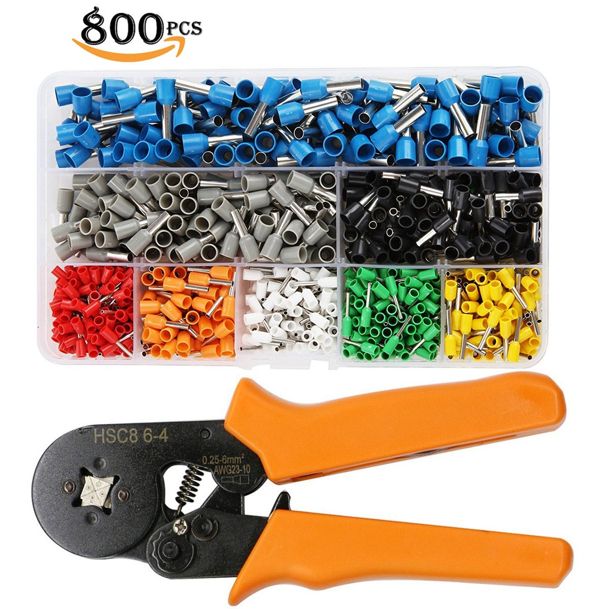 Ferrule Plier Tools With 800pcs Terminals AWG Wire Crimpers Crimping Tool Kit