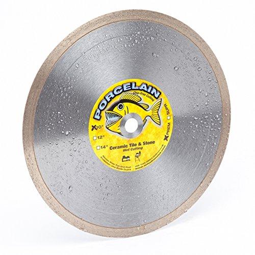 """Piranha 10-Inch (10"""") Wet/Dry Tile Saw Diamond Blade, 10"""" X .080 X 5/8"""" Arbor, Continuous Super-Hi Rim Design, Cuts Porcelain Tile, Ceramic Tile, Marble, Granite & Similar (10"""" X .080 X 5/8"""" Arbor)"""