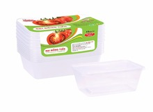 750 ml Rectangle Disposable plastic cup salad fruit takeaway food container with lid