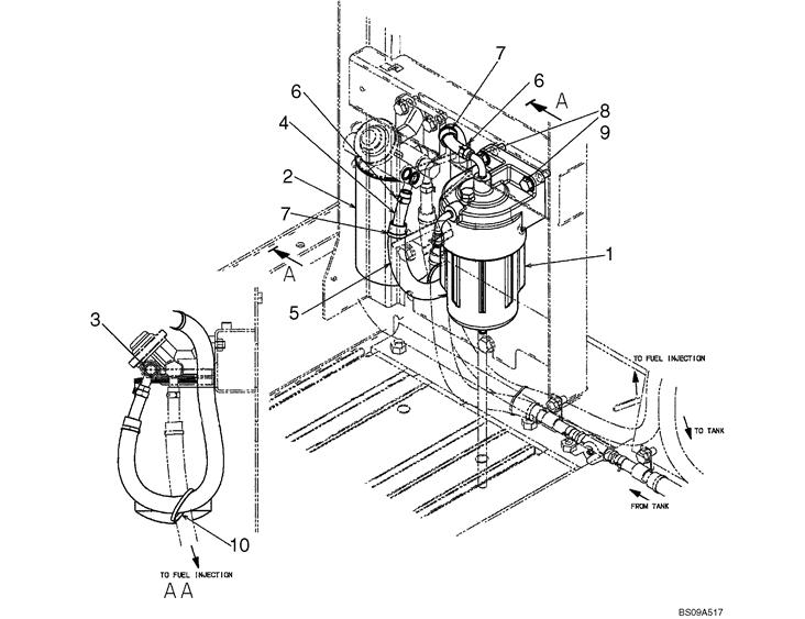 Yn21p01036s003 Sk350 8 Excavator Element Filter Yn21p01036s001