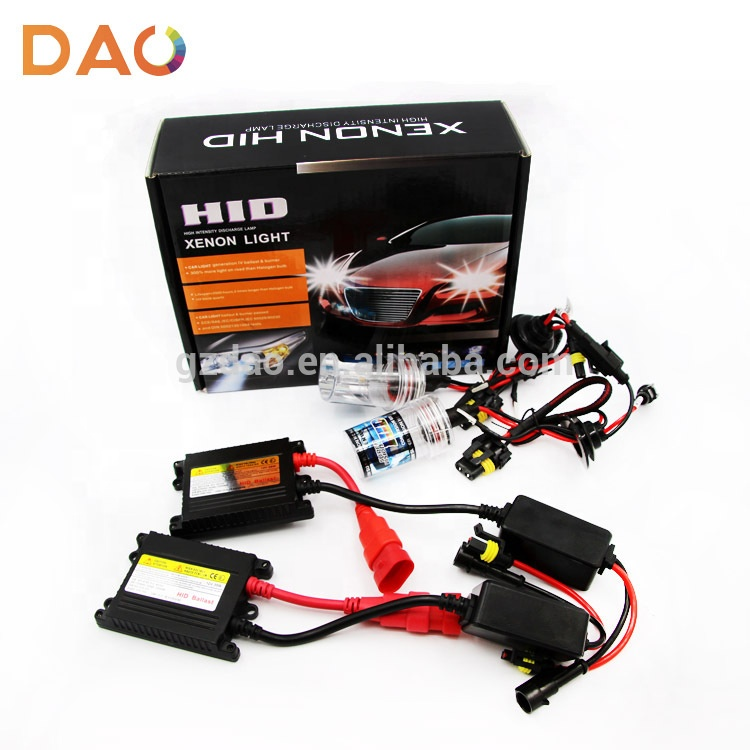 DAO car xenon bulb H1 H7 9005 9006 35w 55w 4300k 6000K 8000k HID xenon car conversion kit
