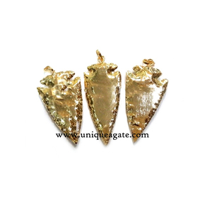 Full Gold Plated Arrowhead Elctroplated Pendants
