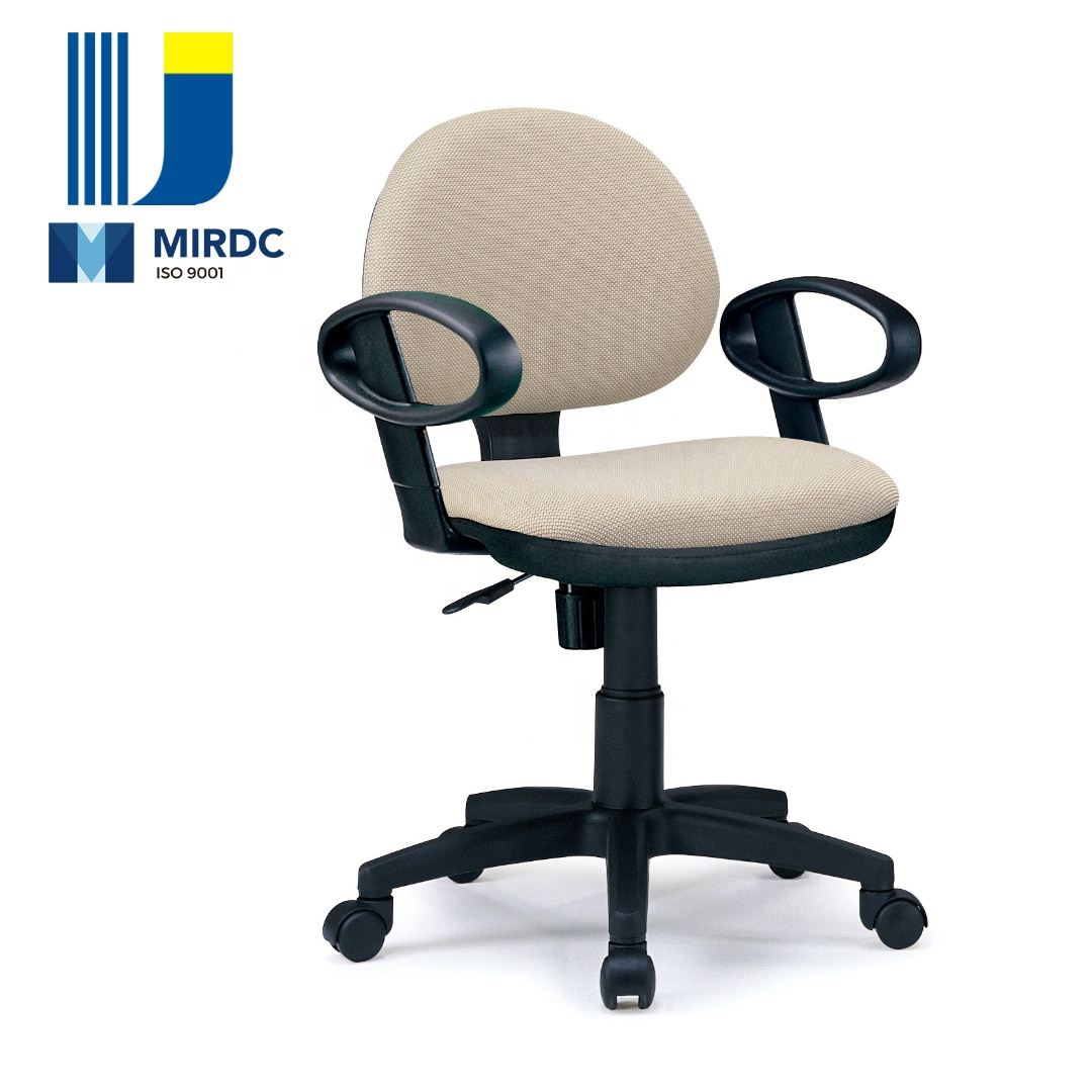 High end office furniture PU foam armless office lift work swivel chair with synchronous mechanism 2666BX