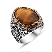 Wholesale Silver 925 Men's Ring with Natural Stone