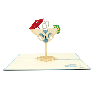 Laser Cut Handmade Pop Up Happy Birthday 3d Greeting Card With