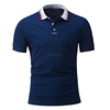 Man Stylish Plain Cotton Short Sleeve Blue Polo T-Shirts