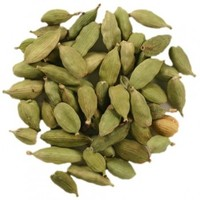 Fresh Green Cardamom, herbs, spice, condiments, kernels, grains,
