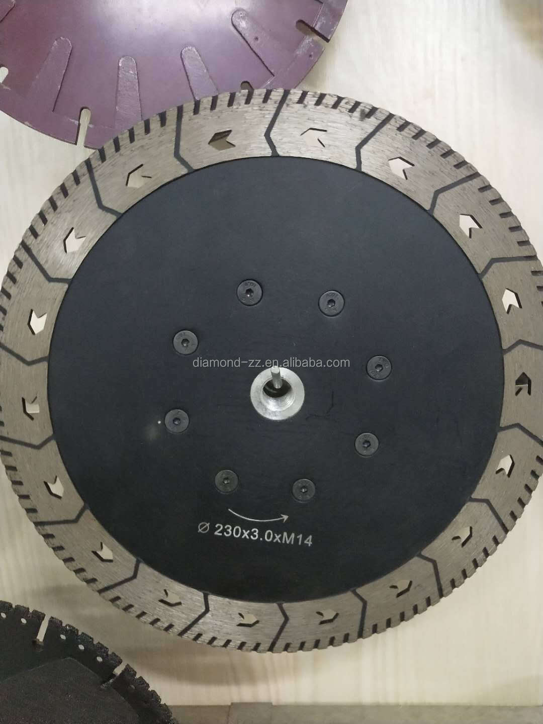 High quality Electroplated Diamond Saw Blade With Flange