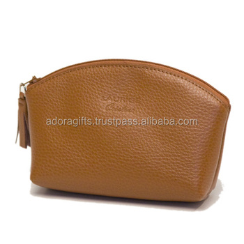 Newly Cosmetic Bags Makeup Kit Bag Genuine Leather Case