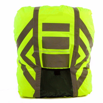 3b9ab7007336 Customized Hi Vis 3m Reflective Yellow Waterproof Backpack Cover ...