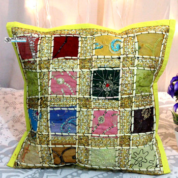 Decorative Pillow Cotton Hand Embroidery Designs Cushion Cover