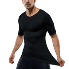 Wholesale Fashion High Compression Body Shaper Dry Fit Workout Mens Gym T Shirt