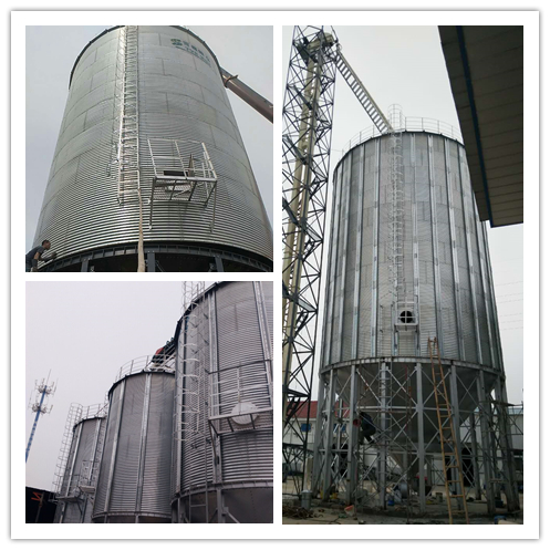 Galvanized rice husk storage silo price