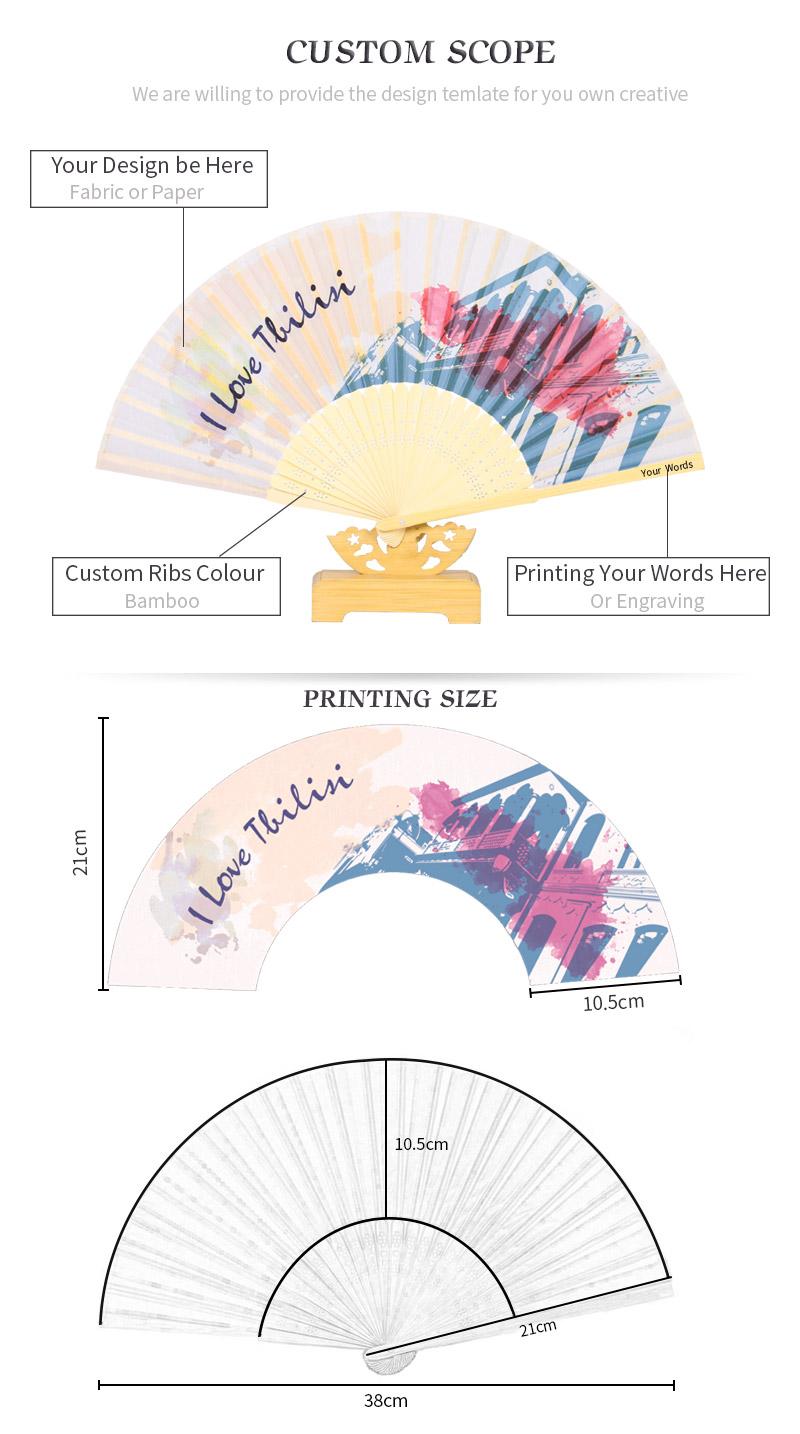Your Own Favors Silk Wedding Mini Folding Hand Fan Personalized Pdz ...