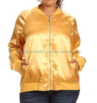 49d06f3379a Soft shell Bomber Jacket Custom Softshell Jackets Gold Varsity Jacket NEW PLUS  SIZE BOMBER SATIN WOMEN