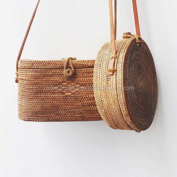 Straw Mini Beach Bag Whole Wicker Rattan Handbags