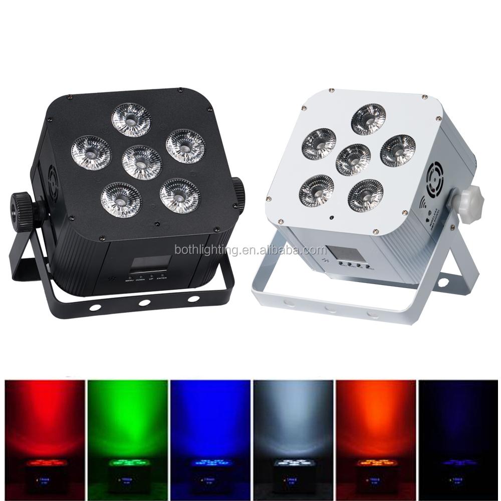Batería operado Luz Accesorios remoto y control wifi led uplighting 6X18 W RGBWA lavado UV led inalámbrico par puede