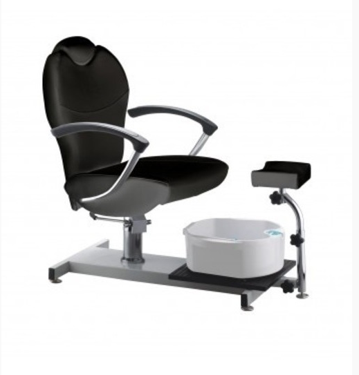 Black pedicure sofa, classic foot bath pedicure chair, manicure chair with electric massage basin