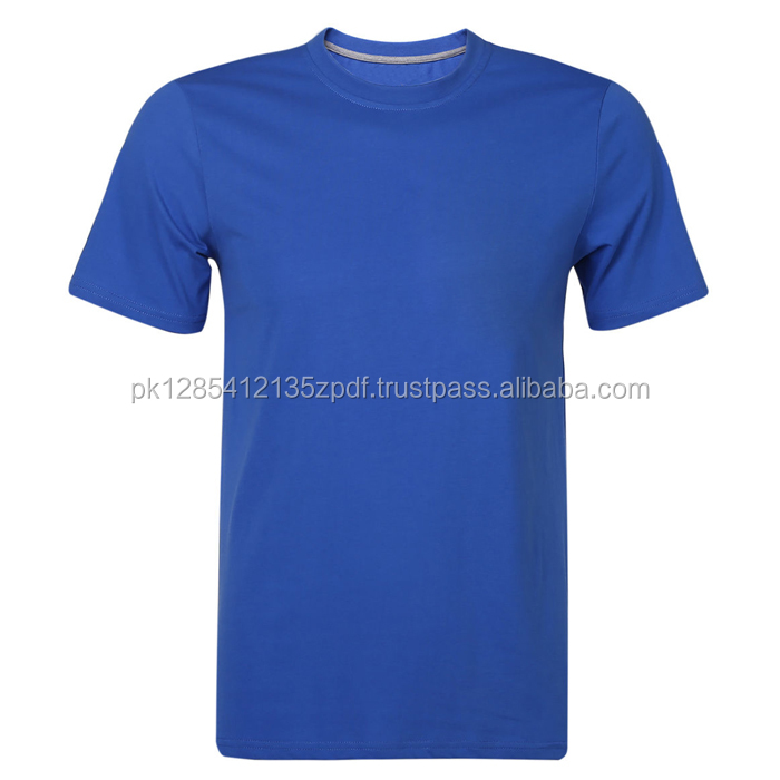 2017 Wholesale Blue T Shirt 100% Combed Cotton