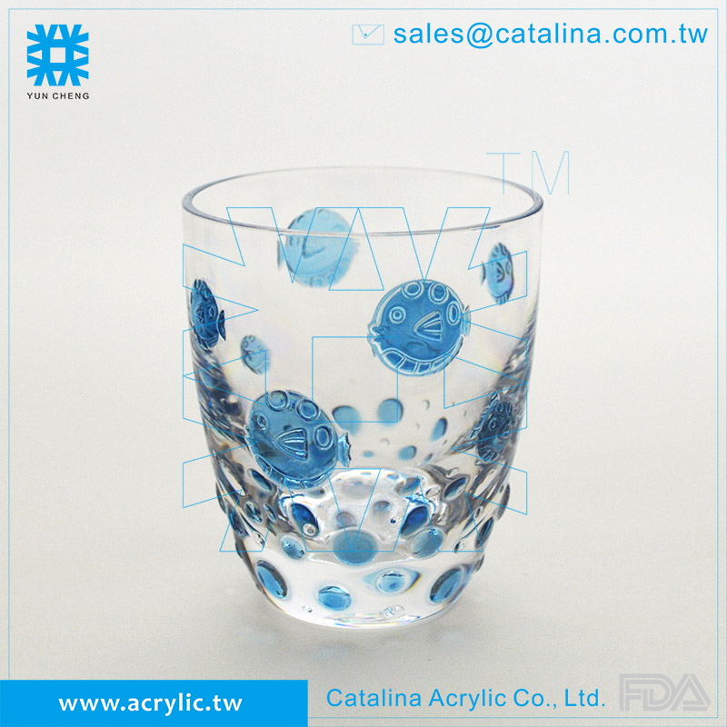 3d Peces Burbuja Patrón De Plástico Acrílico Vaso De Agua Taza De ...