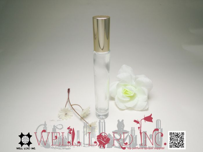 Glass roll on bottle with stainless steel roller ball roll on lip oil container container pink