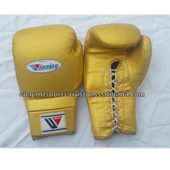 Golden Lace Up Winning Boxing Gloves 10oz 12oz 14oz Or 16oz Any Color - Buy  Golden Winning Boxing Gloves,Lace Up Winning Boxing Gloves,Winning Boxing