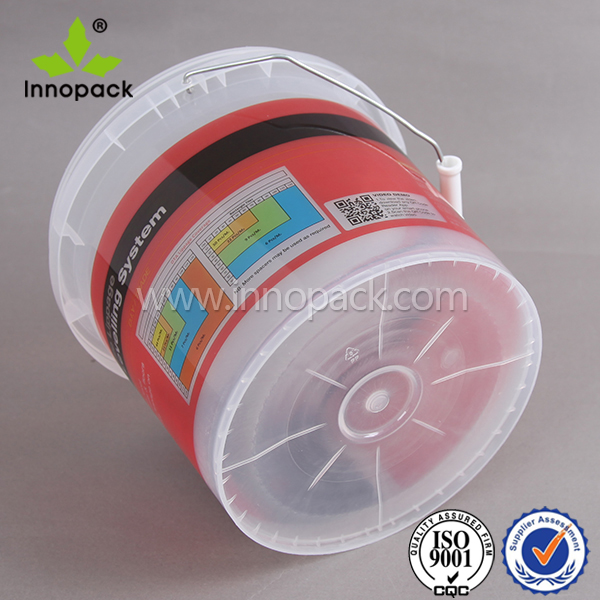 clear 5 kg plastic food bucket with lid ice cream container for sale