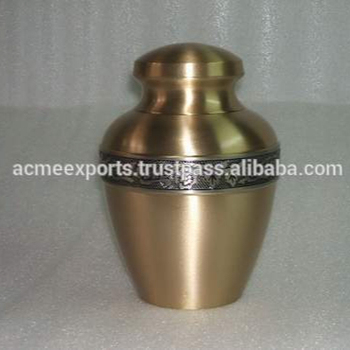 cremation caskets| pet caskets | Small Brass Avalon Cremation Urns India