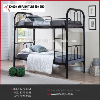 High Quality Hostel Double Metal Bunk Bed Bedroom Furniture Made In Malaysia