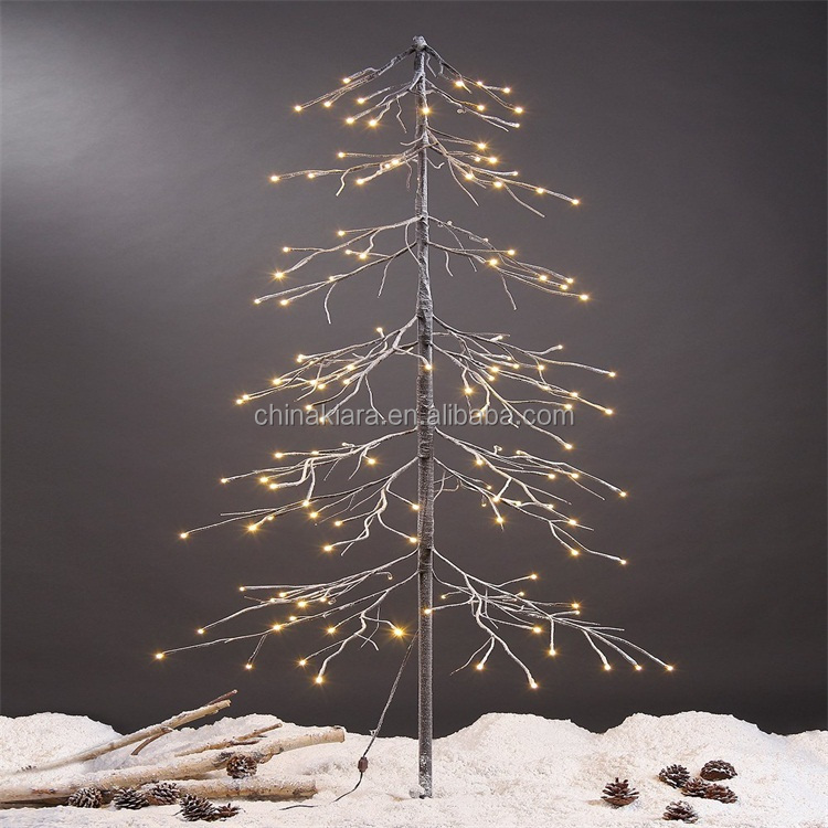 Holiday Decoration 2 ft Christmas Snow Tree
