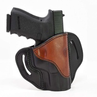 Glock 19 Holster - Right Hand OWB G19 Leather Holster for Belts - Fits Glock 19, 23, 26, 27, H&K VP40 and Springfield