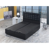 Leather Storage bed , Ottoman base