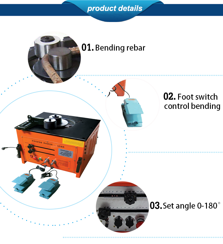 BE-RB-25 Single automatic Electrical rebar bending machine CE