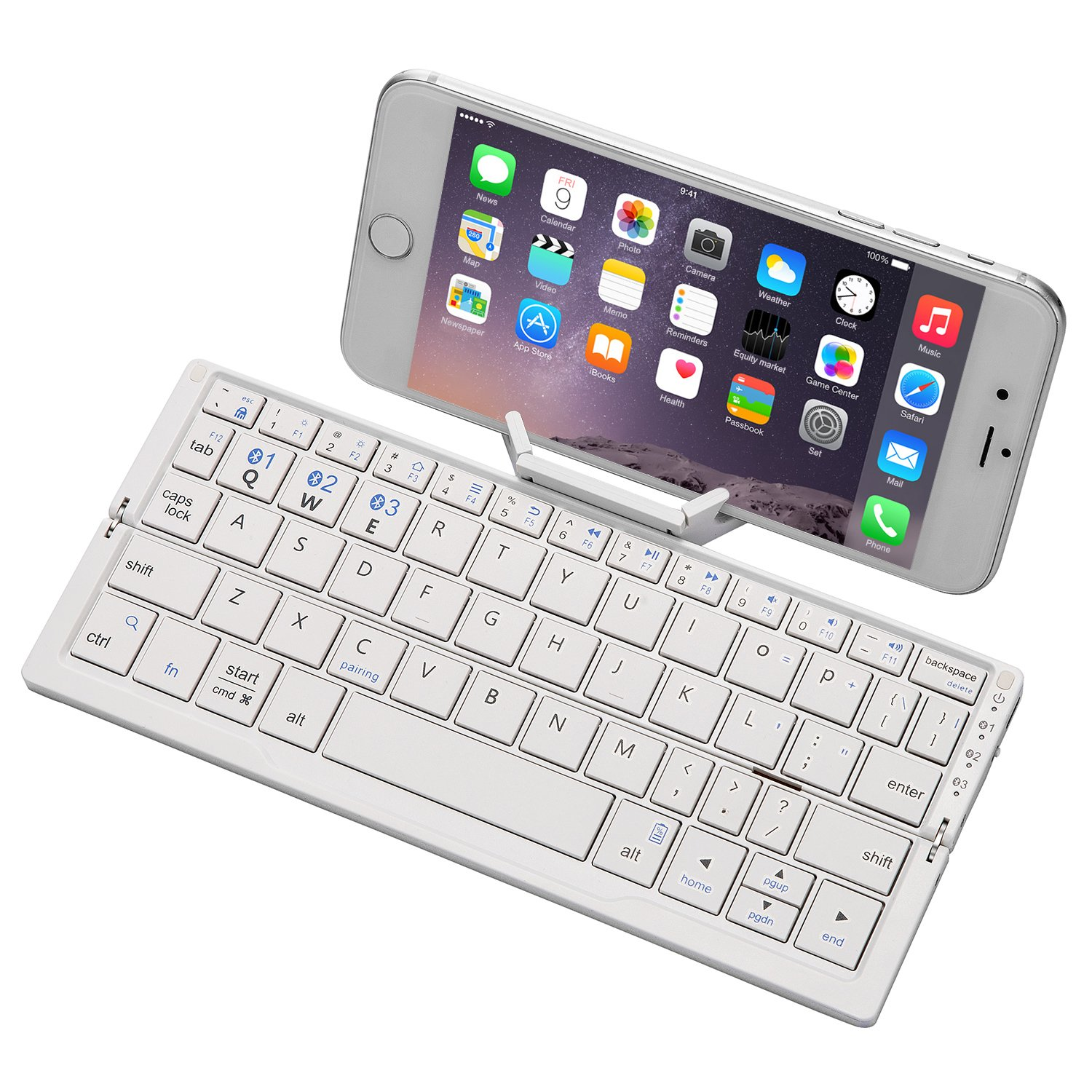 Buy Folding Ergonomic Wireless Keyboard Raydem Portable Bluetooth Keyboard Rechargeable Ultra Slim Pocket Size With Holder Case For Iphone Android Tablets Smartphones Designed For Better Typing Grey In Cheap Price On Alibaba Com