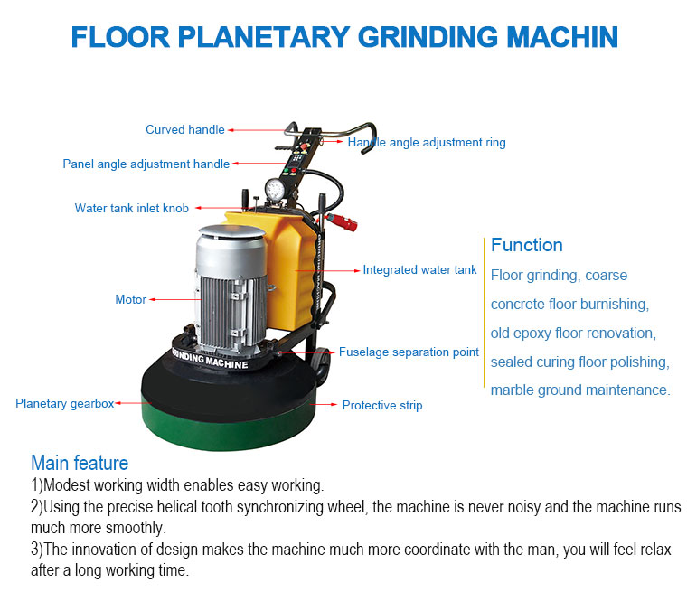 Kd688 Polished Concrete Grinding Machines