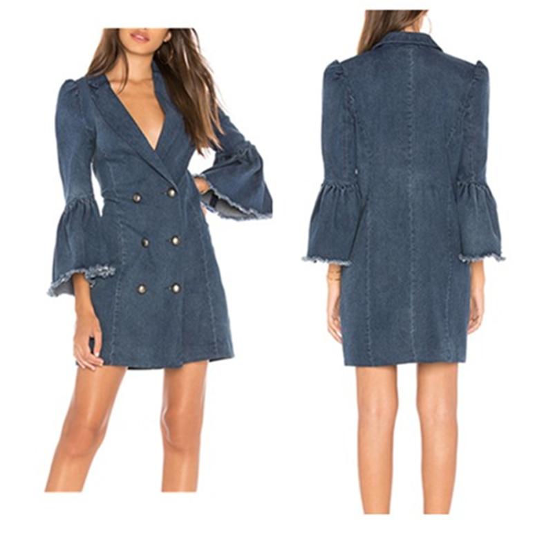 Women's Clothing Industrious New Women Dress New Fashion Designer Loose Jeans Dresses Summer Casual Sleeveless Ladies Elegant Denim Dresses