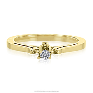 14K Yellow Gold Diamond Ring Total 0.2 Carat