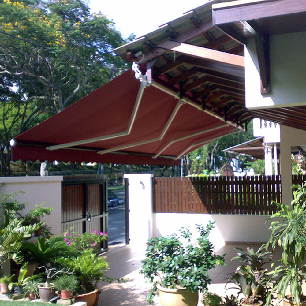 Awning Set With 1 5m Retractable Arms Side Roof Buy Awning Retractable Roof Awning Side Awning Product On Alibaba Com
