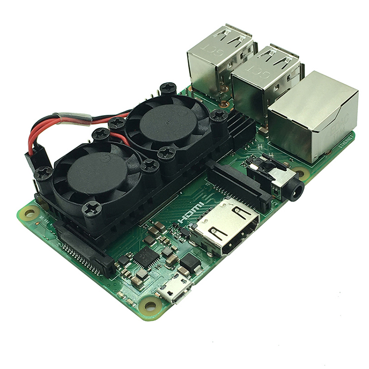 Raspberry Pi 3 Model B+ Cooling Dual <strong>Fans</strong>