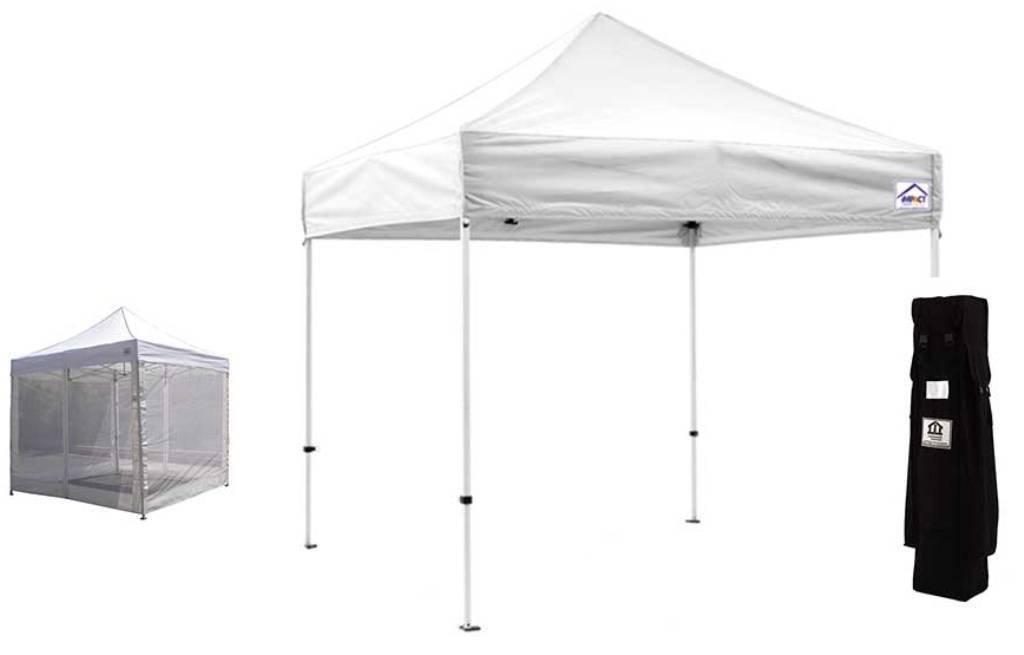 Get Quotations Impact Canopy 10 X Instant Pop Up Tent Mesh Sidewalls Enclosed