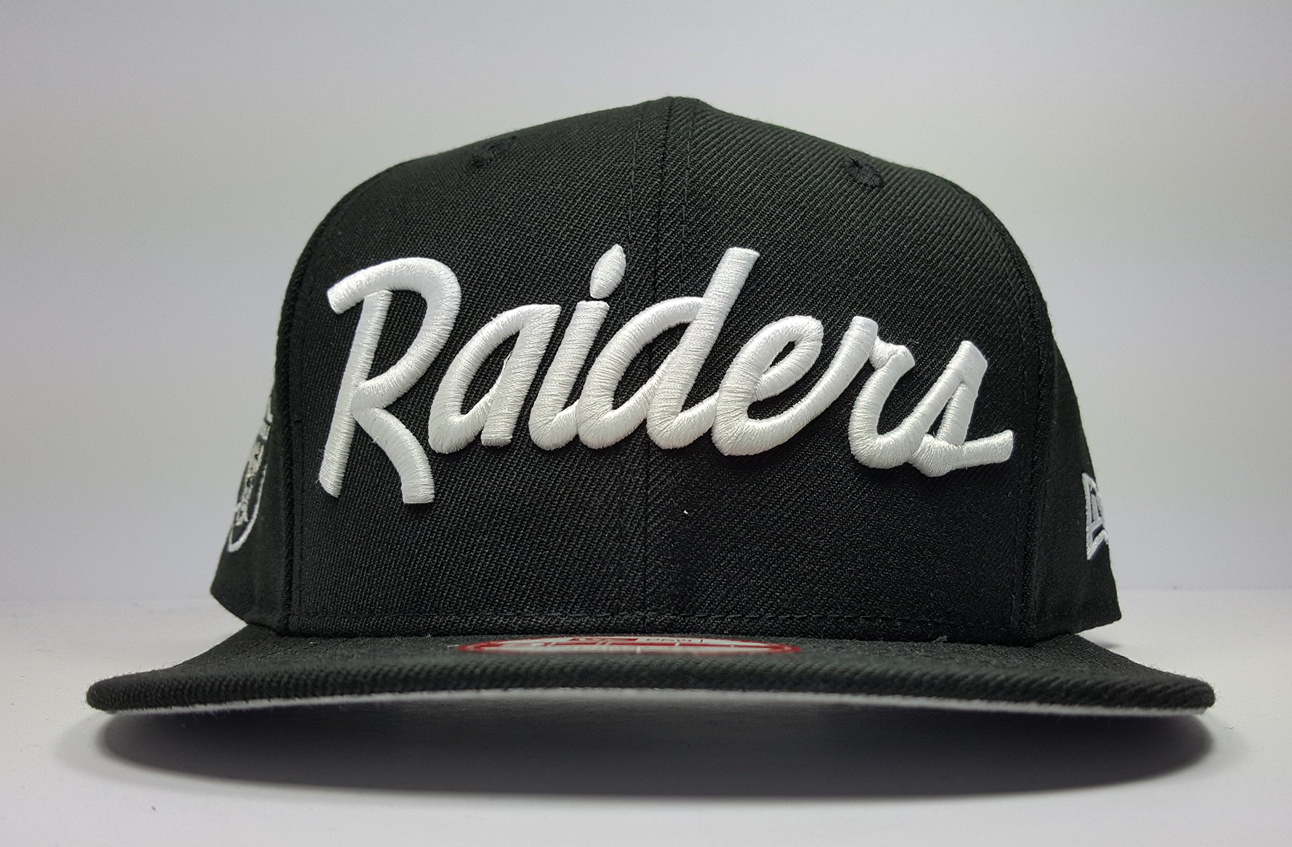 36f6e049bd2 Get Quotations · New Era Los Angeles Raiders 9Fifty Black and White Vintage  Script N.W.A Adjustable Snapback Hat NFL